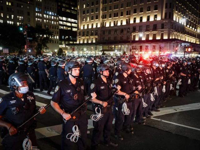 Police and Demonstrators