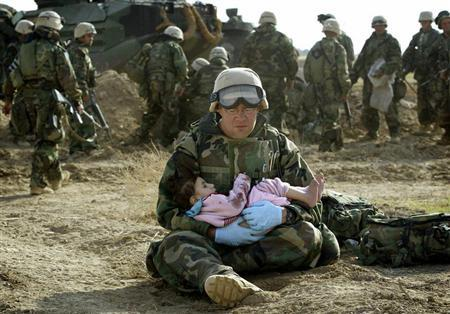 Soldier and Baby